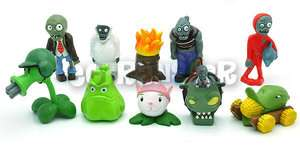 Lot 10 Plants vs Zombies PVZ Good Quality Collection Figure Doll