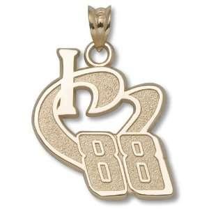 Dale Earnhardt Jr #88 14K Gold I HEART 88 PENDANT ¾