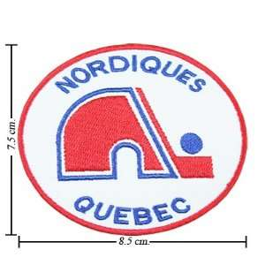 Quebec Nordiques The Past Logo Iron On Patches