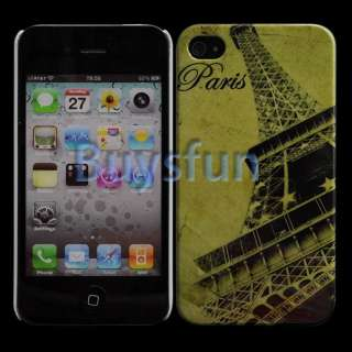 Paris Style Eiffel Tower Hard Cover Back Case Skin For APPLE IPHONE 4