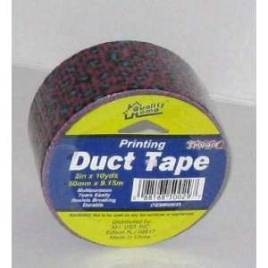 , All Purpose, Duct Tape 2 in x 10 yds, PURPLE/BLACK