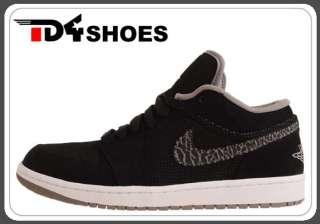 Nike Air Jordan 1 Phat Low Black Elephant Cement 2011 Men Casual Shoes