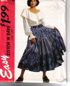 OOP Misses Country Western Wear Cowgirl McCalls Sewing Pattern Your