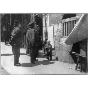 Chinese men,wall newspaper,San Francisco,California,CA