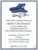 20 Custom Graduation Party Invitations/Police/Policeman
