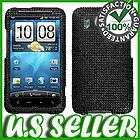 Black crown bling stripe case cover for HTC Inspire 4G