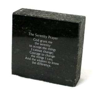 Granite Block, 3 Square  The Serenity Prayer   God grant