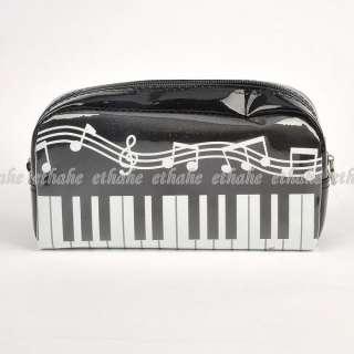 Piano Plastic Cosmetic Bag Makeup Case Pouch E1FAZS