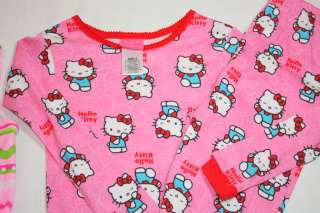 GIRLS HELLO KITTY PJS SIZE 8  SWIMSUIT SIZE 6  LOT