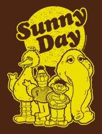 SUNNY DAY Vintage 80s Sesame Street 2001 T Shirt ernie