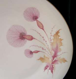 Hertel Jacob Bavaria Pink Thistle Gold Teacup & Saucer