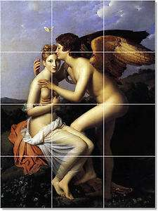 XL Gerard Francois Angels Painting Ceramic Bathroom Shower Tile