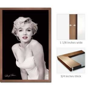 Bronze Framed Marilyn Monroe Red Lips Sexy Poster