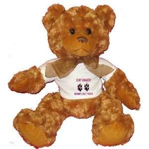 GIANT SCHNAUZER WOMANS BEST FRIEND Plush Teddy Bear with