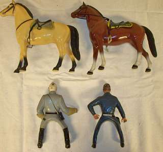 Hartland toy US CS civil war Calvary General Lee horse NR lot