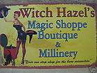 Broom Hilda Kitchen Witch HALLOWEEN Tin Metal Sign