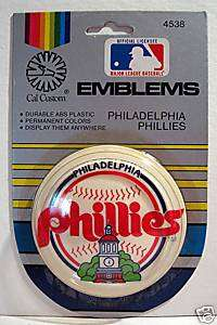 Philadelphia Phillies Baseball Car Emblem / Old Stock
