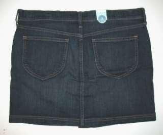 NWT Dark Blue OLD NAVY Button Down Denim Jean Mini Skirt 12
