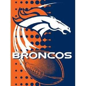 Denver Broncos Royal Plush Raschel NFL Blanket (Flash