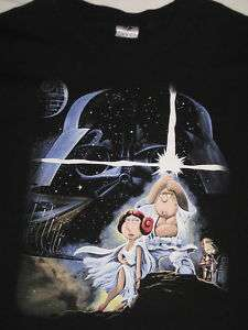 STAR WARS  FAMILY GUY     COOL T SHIRT    XXL