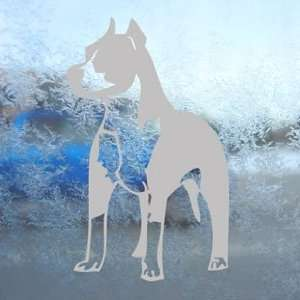 Pitbull Standing Bull Terrier Dog Gray Decal Car Gray