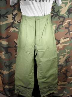 NEW MILITARY OLIVE DRAB PERMEABLE EXTREME COLD WEATHER PANTS   SIZE X