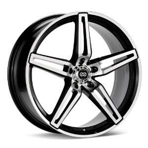 18x8 Enkei RAZR (Black / Machined) Wheels/Rims 5x110 (450