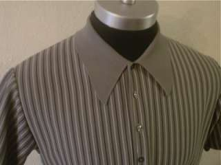 Striped 60s 50s RAT PACK Italian Mob Lounge Retro MOD Polo SHIRT XL