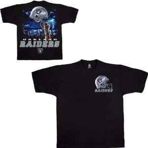 Liquid Blue Oakland Raiders Sky Helmet T Shirt Large