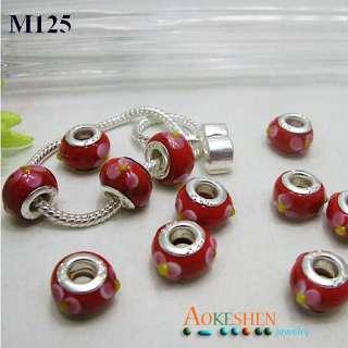 Lampwork Glass European Charms bracelets beads PDM