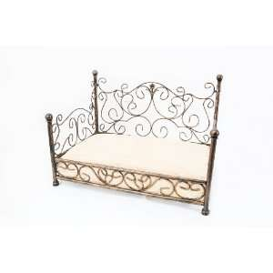 Bronze Metal Phoebe Bed Frame w/Cushion for Dog Cat