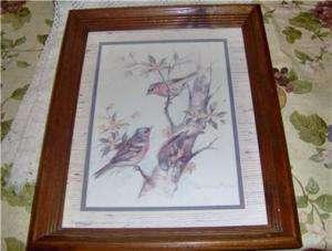 FRAMED PAUL WHITNEY HUNTER PRINT,BIRDS,ART,PAINTING