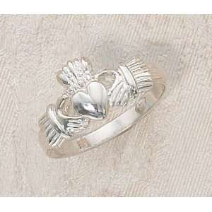 Ladies Sterling Silver Claddagh Ring Size 5 Irish Celtic Fine Fashion