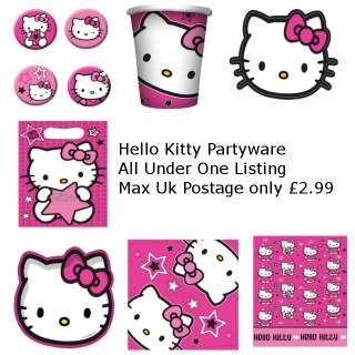 Hello Kitty Stars Partyware All Under One Listing