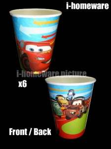Cars 2 Disney Birthday Party Supply 6x Paper Cups c070