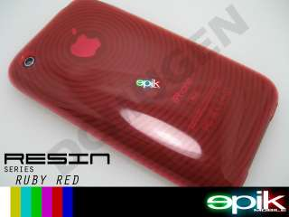 RED Soft Crystal Gel Hard Case Apple iPhone 3GS 3G S