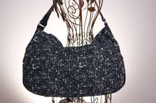 JESSICA SIMPSON Black Handbag Hobo HERRINGBONE Knit NWT~~~
