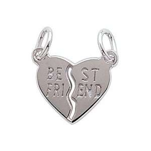 Rembrandt Charms Best Friends Charm, Sterling Silver