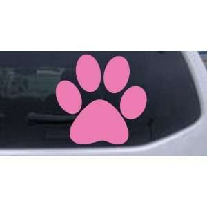 Pink 4in X 4in    School Team Paw Print Sports Car Window Wall Laptop