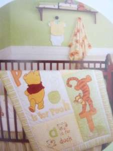 Disney Baby P is For Pooh Fitted Crib Sheet NIP