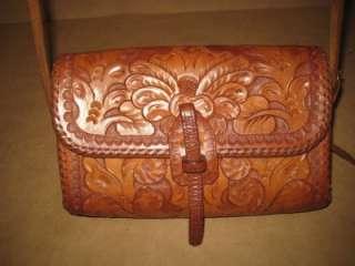 Leather Saddle Bag Satchel Cross Body Purse Southwest Classic