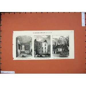 1874 Livingstone House Bedroom Garden Trees Fine Art