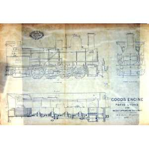 TRACING PAPER 1879 ENGINEERING GOODS ENGINE PARIS LYONS