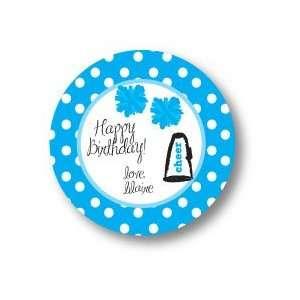 Polka Dot Pear Design   Round Stickers (Cheer   528r
