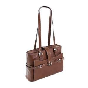 Siamod Fratti Leather 15.4 Laptop Tote   Cognac