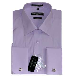 Mens Lavender French Cuff Dress Shirt (Cufflinks included)