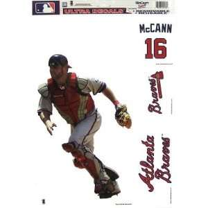 ATLANTA BRAVES BRIAN MCCANN REMOVABLE CAR TRUCK WINDOW WALL DECAL SET