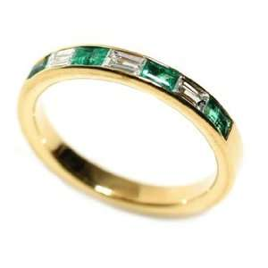 Natural Emerald & Diamond Ring Size 6 Ct.tw 0.55 Osnat Gad Jewelry