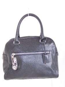 NEW Michael Kors Knox BLACK Satchel Leather Shoulder bag Purse