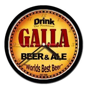 GALLA beer and ale cerveza wall clock: Everything Else
